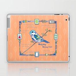 Sparrow Mahjong in Orange Laptop & iPad Skin