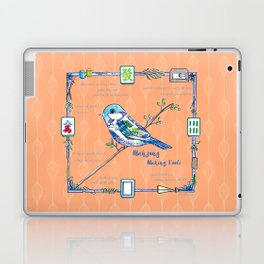 Sparrow Mahjong in Orange Laptop & iPad Skin