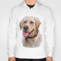 labrador Hoodies featuring Labrador by OLHADARCHUK