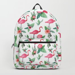 Flamingo Floral Tropical Backpack