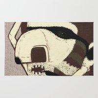 racoon Area & Throw Rugs featuring Raino Racoon by René Barth