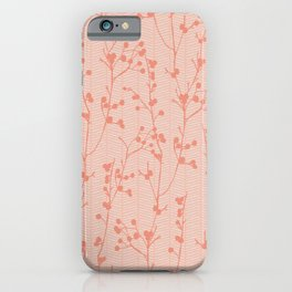 Winter Berries Coral iPhone Case