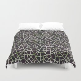 Crackle Magenta Suede Duvet Cover