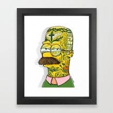 Tatted Up Ned Framed Art Print