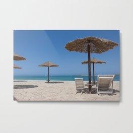 Beach on Boa Vista Capo Verde Metal Print