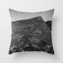 Table Mountain Panorama (Cape Town, South Africa) Throw Pillow