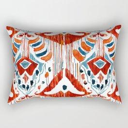 red bali ikat Rectangular Pillow