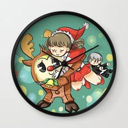 Teddie and Nanako Wall Clock