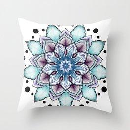 Solstice mandala Throw Pillow