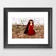 Branch Hair Framed Art Print