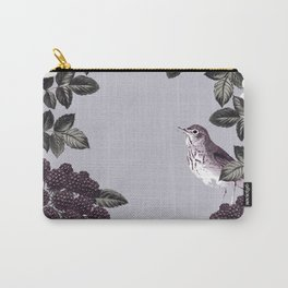 Birds and the Bees Blue Gray Carry-All Pouch