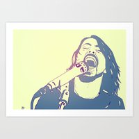 dave grohl Art Prints featuring Dave Grohl by Giuseppe Cristiano