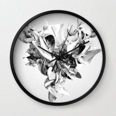 Twist Of Heart - White Wall Clock
