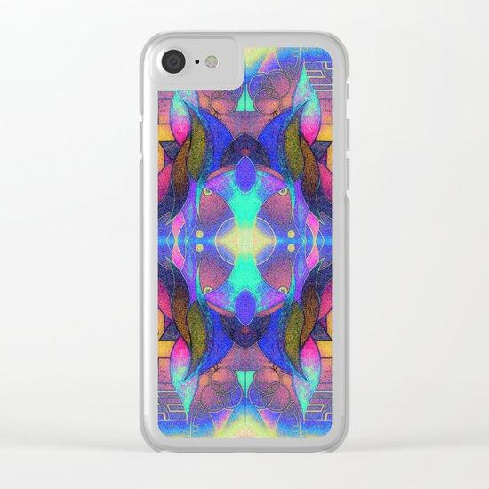 Mandala H II Clear iPhone Case