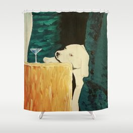 sleepy puppy Shower Curtain