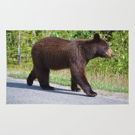 The happiest bear in Jasper National Park Rug