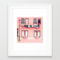 Laundry Venice Italy Travel Photography Framed Art Print