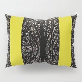 Gothic tree striped pattern mustard yellow Pillow Sham