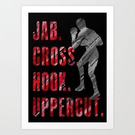 Shadow Boxing, Boxer Workout Jab Cross Hook Uppercut Art Print