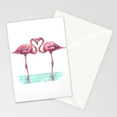 Flamingos in love Stationery Cards