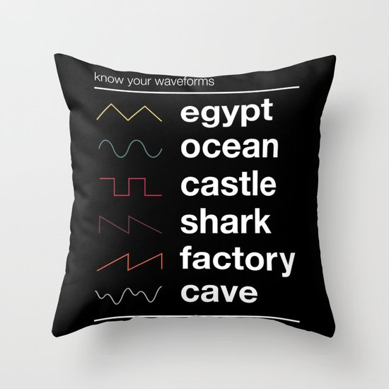 Know your Waveforms Throw Pillow
