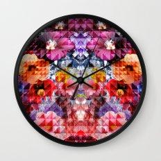 Crystal Floral Wall Clock