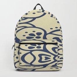 Blue On White Boho Design Backpack