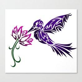 Hummingbird W/ Flower Canvas Print