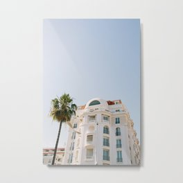 Cannes Palm Metal Print