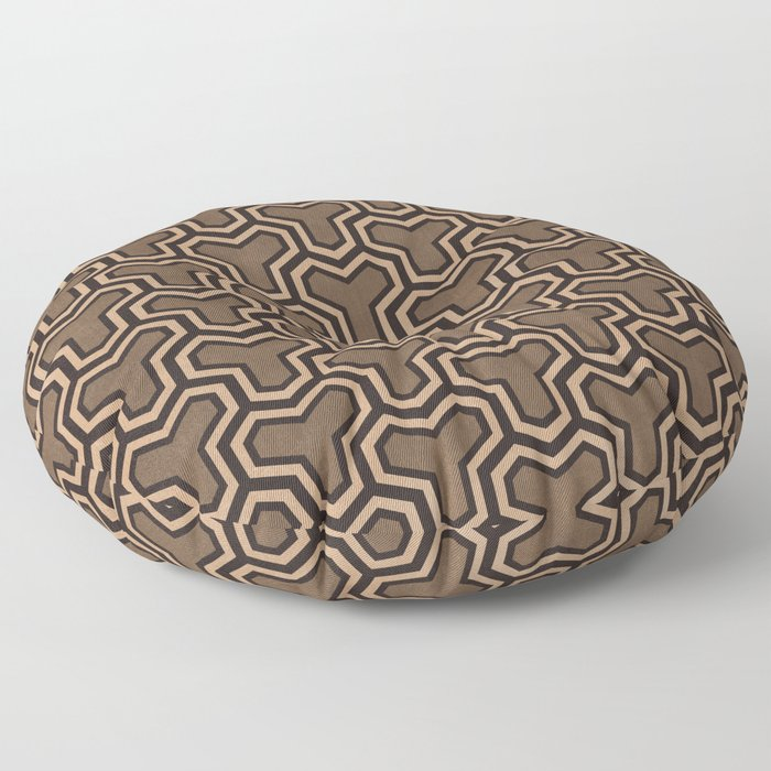 Brown Ys (70's Style) Floor Pillow