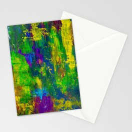 """""""Purple Swamp"""" Abstract Acrylic Painting by Noora Elkoussy Stationery Cards"""