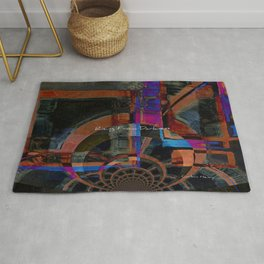 Rising From Darkness Abstract - Happiness - Inspiration Rug