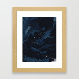 Abstract Astronomy in Dark Blue Framed Art Print