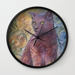 A cat named Lilly Pilly Wall Clock