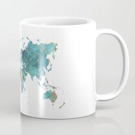 World Map Wind Rose Coffee Mug
