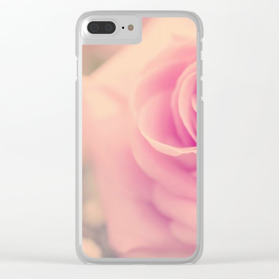 Vintage roses flowers floral - Pink rose flower bunch #Society6 Clear iPhone Case