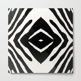 Black Ink Medallion by Juul Metal Print