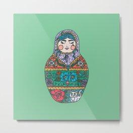Russian Nesting Doll Metal Print