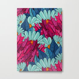 The leaves and the flowers Metal Print