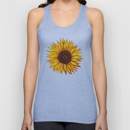 Sunflower by Lars Furtwaengler | Ink Pen | 2011 Unisex Tank Top