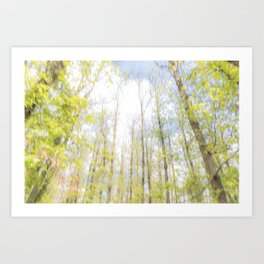 Colorful trees photography - Watercolor series #2 Art Print