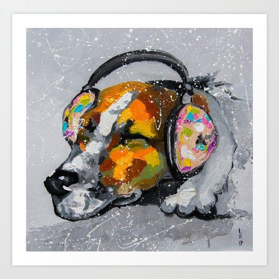 Blues for dog Art Print