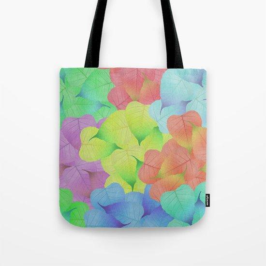Leaf Pattern Tote Bag