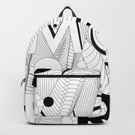 History of Art in Black and White. Postmodern Backpack