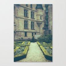 French Garden Maze Canvas Print