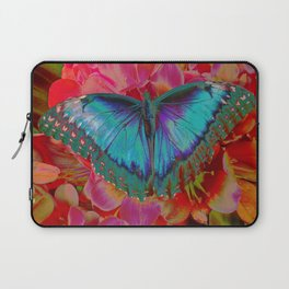 Extreme Blue Morpho Butterfly Laptop Sleeve