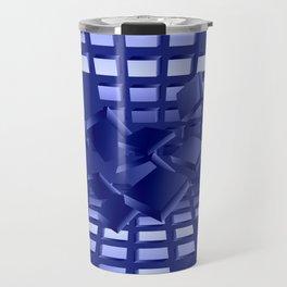 Explosion in blau Travel Mug