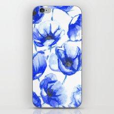 Flora Blue iPhone & iPod Skin