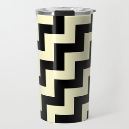 Black and Cream Yellow Steps RTL Travel Mug