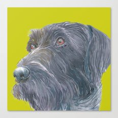 Pointer printed from an original painting by Jiri Bures Canvas Print